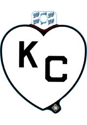 Kansas City Monarchs White Heart Black KC Stickers