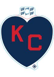Kansas City Monarchs Navy Heart Red KC Stickers