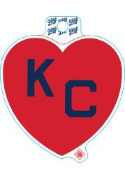 Kansas City Monarchs Red Heart Navy KC Stickers