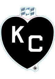 Kansas City Monarchs Black Heart White KC Stickers