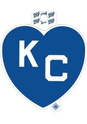 Kansas City Monarchs Royal Blue Heart White KC Stickers