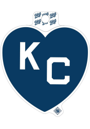 Kansas City Monarchs Blue Heart White KC Stickers