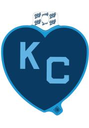 Kansas City Monarchs Blue Heart Light Blue KC Stickers