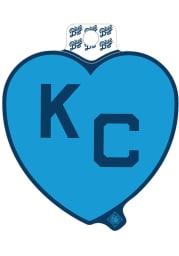 Kansas City Monarchs Light Blue Heart Blue KC Stickers