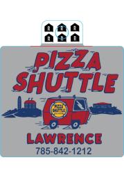 Kansas Pizza Shuttle Stickers