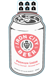 Pittsburgh Pittsburgh Brewing Co Iron City Beer Stickers