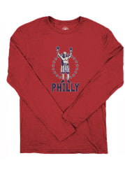 Philly Red Rocky Franklin Long Sleeve T Shirt