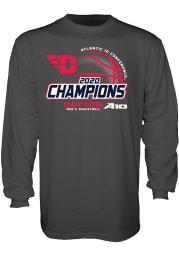 Dayton Flyers Charcoal Atlantic 10 Champions Long Sleeve T Shirt