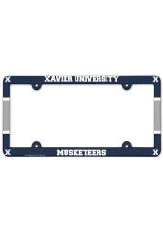 Xavier Musketeers Full Color Plastic License Frame