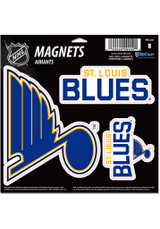 St Louis Blues 11x11 3pk Magnet
