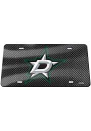 Dallas Stars Carbon Fiber Car Accessory License Plate