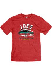 Joe's Kansas City Bar-B-Que Heather Red Gas Station Short Sleeve T-Shirt