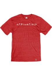 Springfield Heather Red Wordmark Dots Short Sleeve T-Shirt