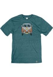 Springfield Heather Dark Teal VW Bus Short Sleeve T-Shirt