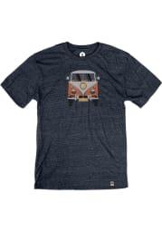 Springfield Heather Navy VW Bus Short Sleeve T-Shirt