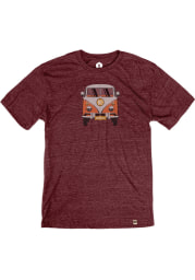 Springfield Heather Maroon VW Bus Short Sleeve T-Shirt