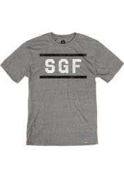 Springfield Heather Grey SGF Block and Bars Short Sleeve T-Shirt