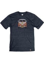 St. Joe Heather Navy VW Bus Short Sleeve T-Shirt