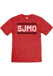 St. Joe Heather Red SJMO Block and Bars Short Sleeve T-Shirt