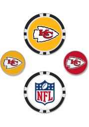 Kansas City Chiefs 4-Pack Set Golf Ball Marker