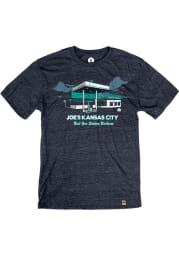 Joe's Kansas City Bar-B-Que Heather Navy Best Gas Station Short Sleeve T-Shirt