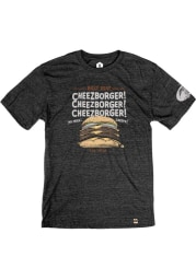 Billy Goat Tavern & Grill Cheezborger Heather Black Short Sleeve T-Shirt