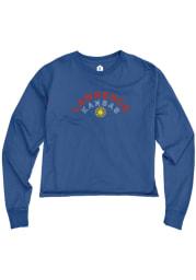 Kansas Womens Blue Sunflower LS Tee