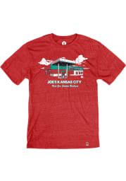 Joe's Kansas City Bar-B-Que Heather Red Best Gas Station Short Sleeve T-Shirt