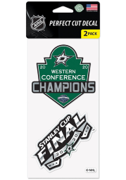 Dallas Stars 2020 Stanley Cup Final Participant 4x4 Auto Decal - Green