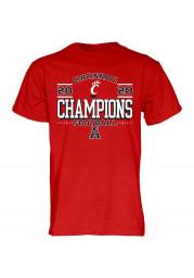 Cincinnati Bearcats Red 2020 AAC Champions Locker Room Short Sleeve T Shirt