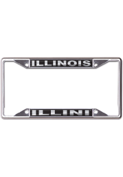 Illinois Fighting Illini Black and Silver License Frame