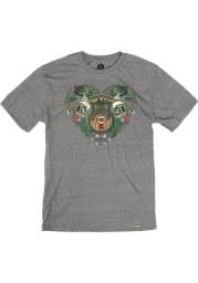 KC Bier Co. Heather Grey German Heart Short Sleeve T-Shirt