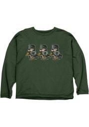 Michigan State Spartans Womens Green Crew Love Crew Sweatshirt