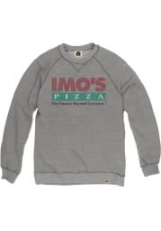 Imo's Pizza Heather Grey Prime Logo Long Sleeve Fleece Crew
