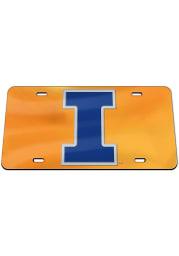 Illinois Fighting Illini Team Color Acrylic Car Accessory License Plate