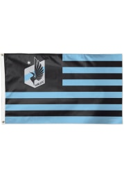 Minnesota United FC 3x5 Star Stripes Grey Silk Screen Grommet Flag