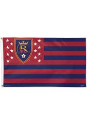 Real Salt Lake 3x5 Star Stripes Red Silk Screen Grommet Flag