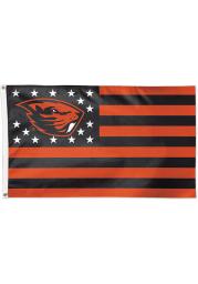 Oregon State Beavers 3x5 Star Stripes Orange Silk Screen Grommet Flag