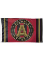 Atlanta United FC 3x5 Red Silk Screen Grommet Flag