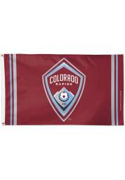 Colorado Rapids 3x5 Red Silk Screen Grommet Flag