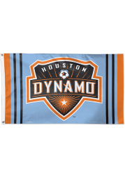 Houston Dynamo 3x5 Orange Silk Screen Grommet Flag
