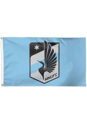 Minnesota United FC 3x5 Grey Silk Screen Grommet Flag