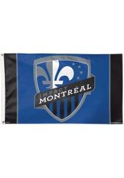 Montreal Impact 3x5 Blue Silk Screen Grommet Flag