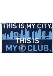 New York City FC 3x5 Blue Silk Screen Grommet Flag