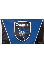 San Jose Earthquakes 3x5 Black Silk Screen Grommet Flag