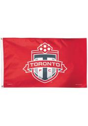 Toronto FC 3x5 Red Silk Screen Grommet Flag