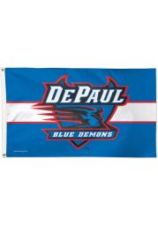 DePaul Blue Demons 3x5 Blue Silk Screen Grommet Flag