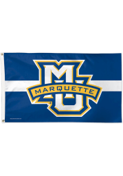 Marquette Golden Eagles 3x5 Blue Silk Screen Grommet Flag