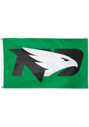 North Dakota Fighting Hawks 3x5 Green Silk Screen Grommet Flag