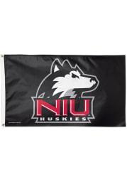 Northern Illinois Huskies 3x5 Black Silk Screen Grommet Flag